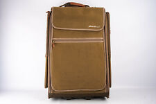 Eddie Bauer Large Rolling Suitcase Garment Travel Luggage Olive 26x16x11 V11