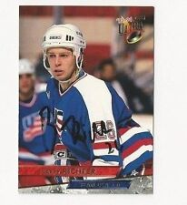 93/94 Ultra Autographed Hockey Card Barry Richter Team USA