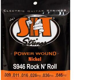 SIT 3-Pack Nickel Wound Electric Guitar Strings - Rock 'n' Roll (9-46)