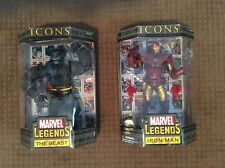 Marvel Legends Action Figures Iron Man Beast ICONS - Red Version - New