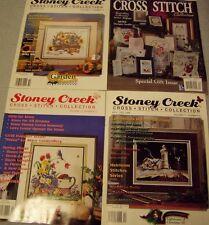Vintage Cross Stitch Pattern and Magazine 28 Lot of 8