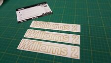 Renault Clio Williams 2 replacement decal sticker graphics Mk1 MK2 rally sport