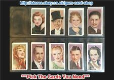 CARRERAS - FILM STARS (BY DESMOND) 1936 (G) ***PICK THE CARDS YOU NEED***