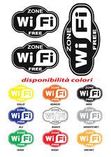 3 Adesivi wi-fi  free wifi zone wi fi sticker