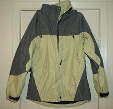 Columbia S snow ski coat jacket Omni Tech Titanium green gray rain waterproof