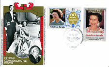 TUVALU NUKUFETAU 1987 QUEEN 40th WEDDING ANNIVERSARY $2 & $4 FIRST DAY COVER