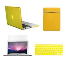 "4 in1 Crystal YELLOW Case for Macbook PRO 13"" + Keyboard Cover + LCD Screen+ Bag"