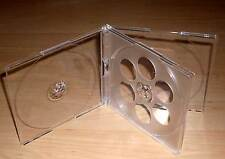 10 CD Hüllen durchsichtig / transparent für 4 CDs oder DVDs Maxi aufklappbar Neu
