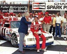 DARRELL WALTRIP 1984 MICHIGAN VICTORY LANE #11 BUD 8X10 PHOTO NASCAR WINSTON CUP