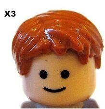 LEGO ® 3 pezzi MASCHIO capelli arancione/Ginger per MINIFIGS NEW