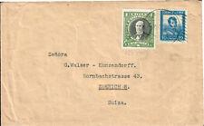 197 CHILE TO SWITZERLAND COVER 1933 CINDERELLA PRESIDENTES SERIE SGO. - ZURICH