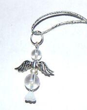 Beautiful Angel Aura Quartz Crystal Guardian Angel Charm Pendant - Crown Chakra