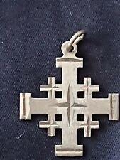 Silver cross with the inscription . Jerusalem . - Used- 925