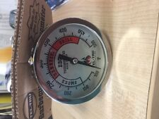 TEL-TRU BBQ Thermometer BQ300 - Silver Dial with Red Zones