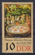 DDR Mi Nr. 3270 F 1 **, PF Punkt im Bart, Plattenfehler 1989, used