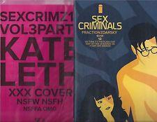 SEX CRIMINALS #12 REGULAR AND KATE LETH NSFW VARIANT IMAGE COMICS!