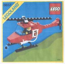 LEGO Set 6657-Fire Patrol Elicottero, 1985 VINTAGE, COMPLETO