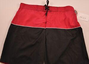 "MEN'S Dream Wave red & black swim suit size X Large 8.5"" inseam elastic back new"