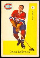 1959-60 PARKHURST HOCKEY #6 Jean Beliveau EX-NM Montreal Canadiens HOF Card
