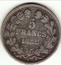 a saisir 5 FRANCS LOUIS PHILIPPE LAUREE 1832 W