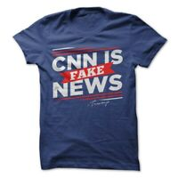 Donald Trump President T-Shirt CNN Fake News Tee Election Make America Great