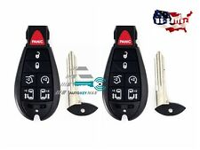 2 NEW Replacement Fobik Smart Key Fob Keyless Remote for 2008-2014 Town&country