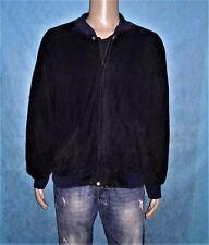 veste MERCEDES BENZ en cuir suede noir  taille L