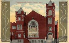 Congregational Church, Pontiac, Michigan 1919 Vintage Postcard