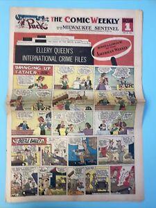 1954 Comics Newspaper The Phantom Blondie Donald Duck Prince Valiant