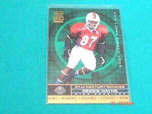 REGGIE WAYNE RC 2001 Crown Royale *Rookie Draft Pick* card #24 (Miami)