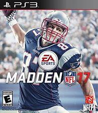 NEW Madden NFL 17 (Sony PlayStation 3, 2016)