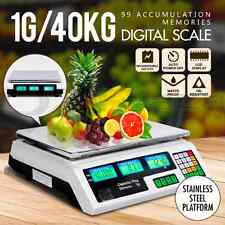 Commercial Shop Electronic Kitchen Scale Digital Weight Scales Food 40KG WH