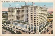 WB Union News postcard, The Drake Hotel, Lake Shore drive, Chicago, IL