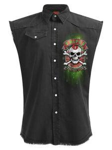 Spiral Shirt Triple 6 Sleeveless Work Men's Black