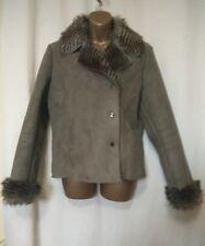 Per Una Faux Suede /fur Jacket Size M Medium