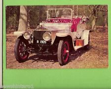 1960s MOBIL TOP PERFORMANCE CAR CARD #4  ROLLS ROYCE  SILVER  GHOST