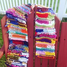Hand Knit Multi Color Boho Scrappy Scarf OOAK