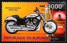 HARLEY DAVIDSON VRSCB V-Rod Motorbike Stamp (2012)