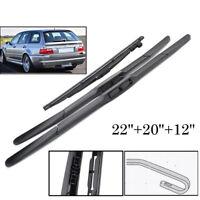 Front Rear Windscreen Wiper Blades Kit Fit For BMW 3 E46 325i 328i 330Ci 330i