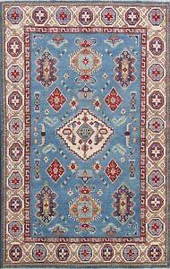 Super Kazak Geometric Oriental Area Rug Handmade Wool Vegetable Dye Carpet 5x8