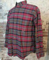 VTG 90s Tommy Hilfiger Plaid Button Down Shirt Men's M Black Red Check BRED