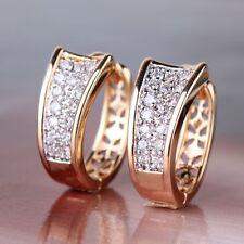 18K Real gold filled Hoop Boucles D'oreilles Brincos fait avec cristaux Swarovski GB43