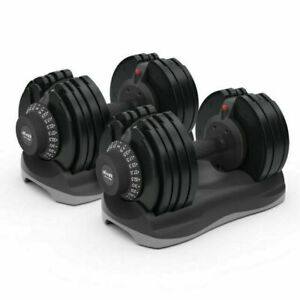 Ativafit Adjustable Dumbbell Set 71.5lbs Weight Train for Gym Home Body Workout