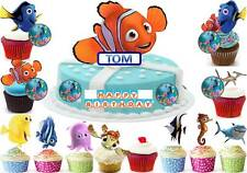 FINDING NEMO Cup Cake Scene Topper Wafer Edible Birthday Party STAND UP CUSTOM