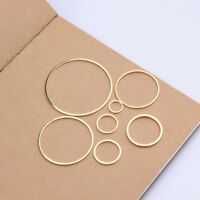 10pcs Pendant Ring Handmade Findings Circle Gold Making Round Earring