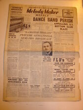 MELODY MAKER 1940 APRIL 27 CHICAGO DANCE BAND GANGSTER TEDDY FOSTER PAT DODD
