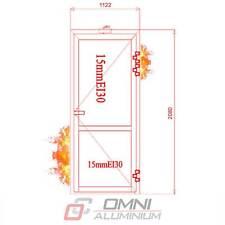 Brandschutz Aluminiumtüre, T30 = Ei30, Brandschutztür, PE78EI 1122 mm x 2080 mm