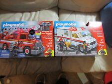 Playmobil 2 City Action Sets Rescue Ladder firetruck & ambulance 5681 5682 New
