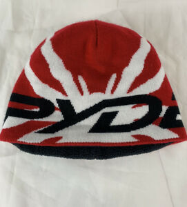 SPYDER Winter Beanie Lined Red Black White OS Adult