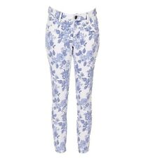 ISay Lucca Floral 7/8 Jeans Size 42/UK 16 LF075 KK 09